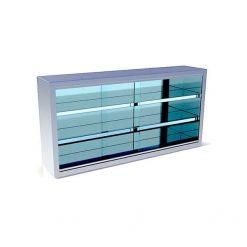 vitrina pentru depozitare cu geamuri